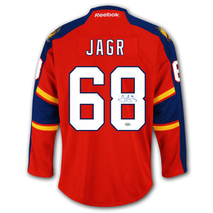 Jaromir Jagr Florida Panthers RBK Premier Autographed Jersey
