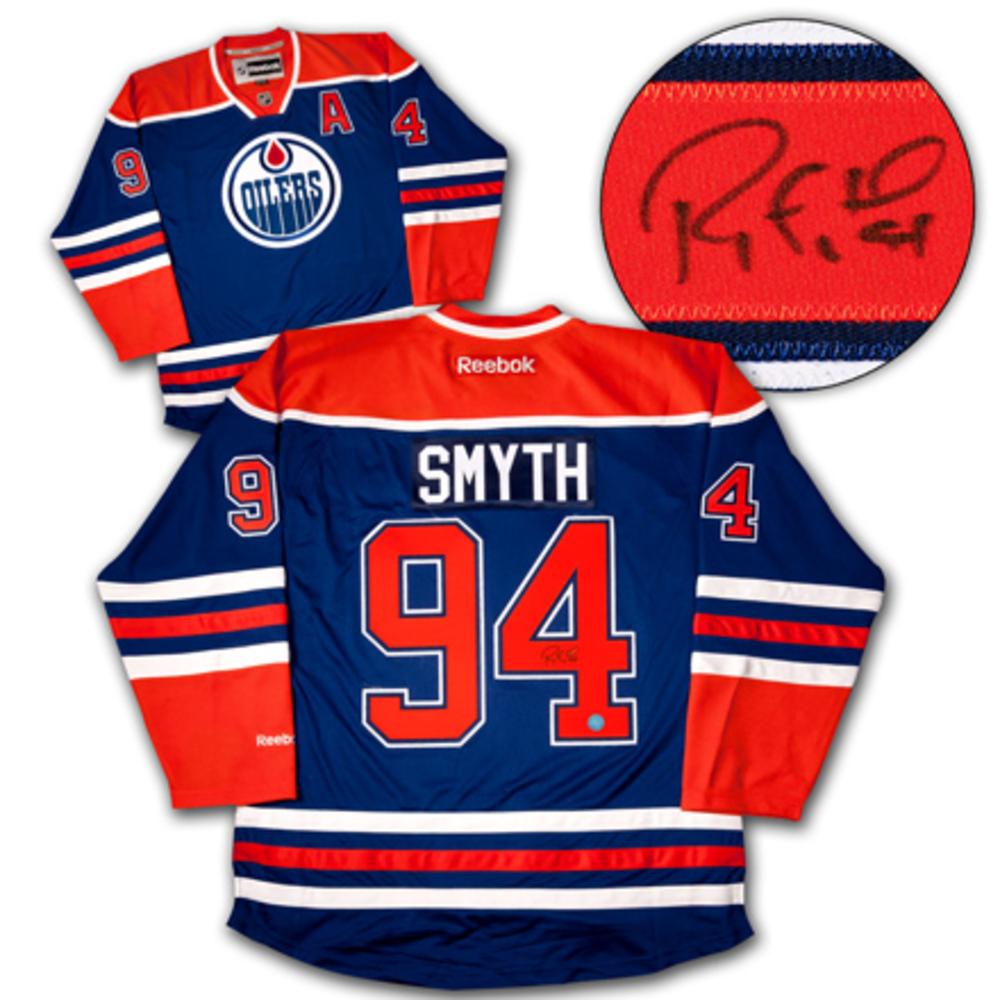 RYAN SMYTH Edmonton Oilers SIGNED Hockey Jersey