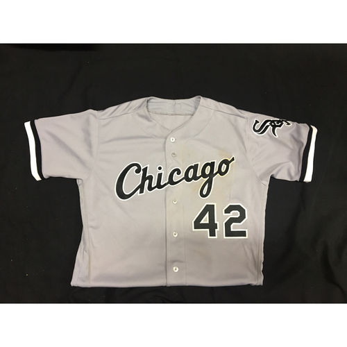 Photo of Tim Anderson Game-Used 2017 #42 Jersey