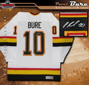 PAVEL BURE Signed Vancouver Canucks White Retro CCM Jersey