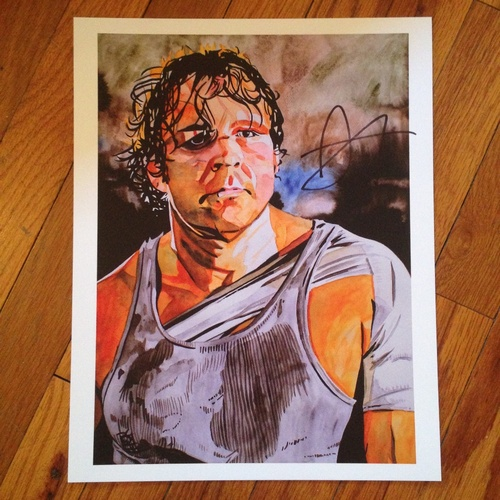 "Photo of Dean Ambrose SIGNED 11"" x 14"" Rob Schamberger Print"