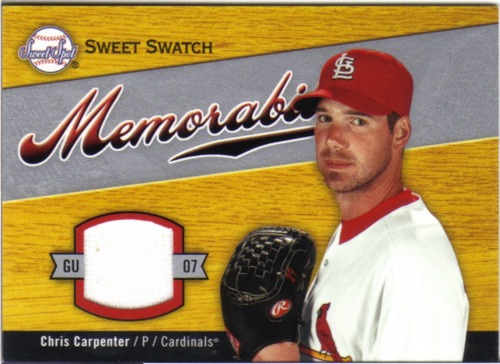 Photo of 2007 Sweet Spot Sweet Swatch Memorabilia #CA Chris Carpenter