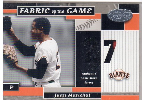 Photo of 2002 Leaf Certified Fabric of the Game #49JN Juan Marichal/27