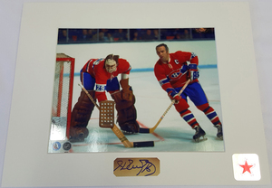 Henri Richard Signature Montreal Canadiens with Dryden 8x10 Custom Matted Photo