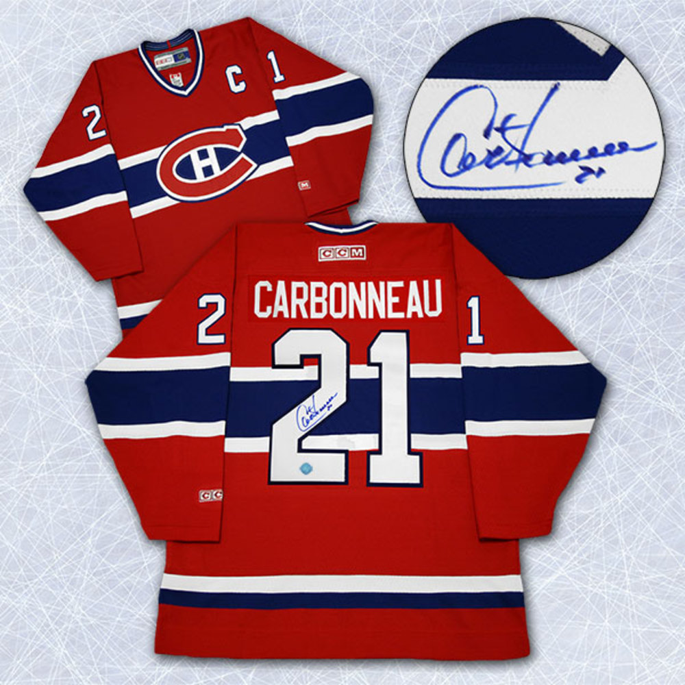 Guy Carbonneau Montreal Canadiens Autographed Retro CCM Hockey Jersey
