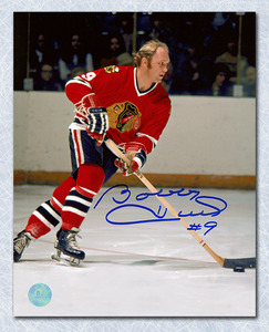 Bobby Hull Chicago Blackhawks Autographed NHL Game Action 16x20 Photo