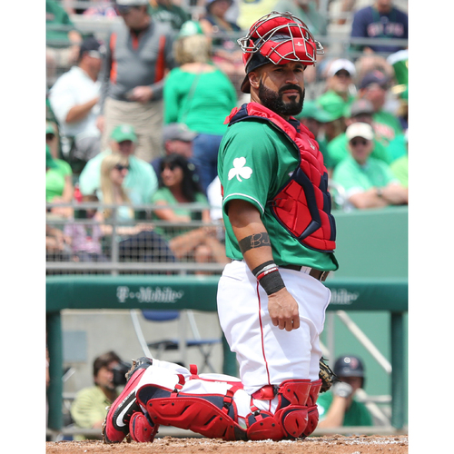 Photo of Red Sox Foundation St. Patrick's Day Jersey Auction - Sandy Leon Game-Used & Autographed Jersey