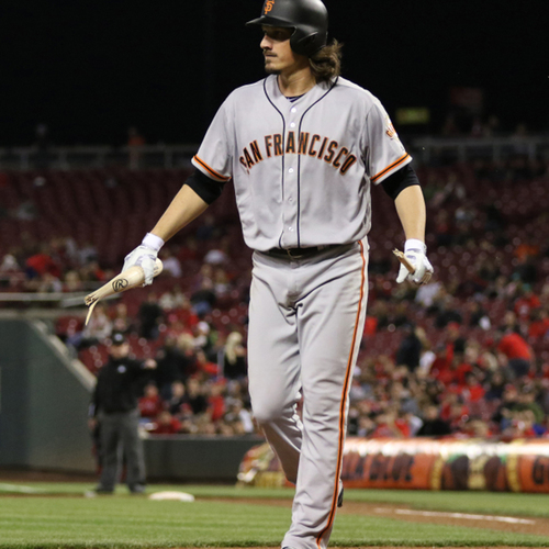 Photo of San Francisco Giants - Game-Used Bat - Broken Over Jeff Samardzija's Knee