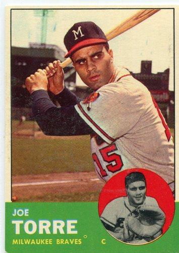 Photo of 1963 Topps #347 Joe Torre Hall of Famer