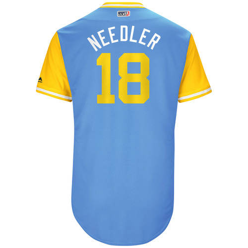 """Photo of Peter """"Needler"""" Bourjos Tampa Bay Rays Game-Used Players Weekend Jersey"""