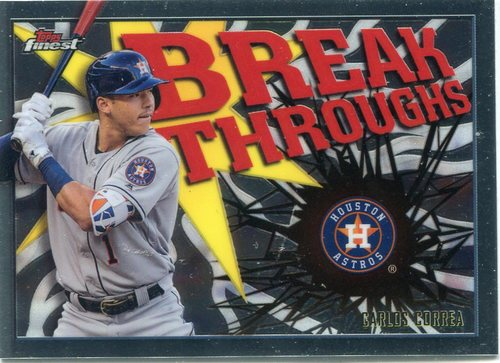 Photo of 2017 Finest Breakthroughs #FBCC Carlos Correa -- Astros ALCS roster