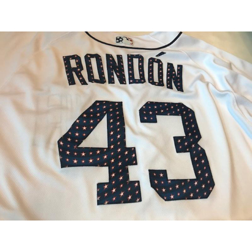 Photo of Game-Used Stars and Stripes Jersey: Bruce Rondon