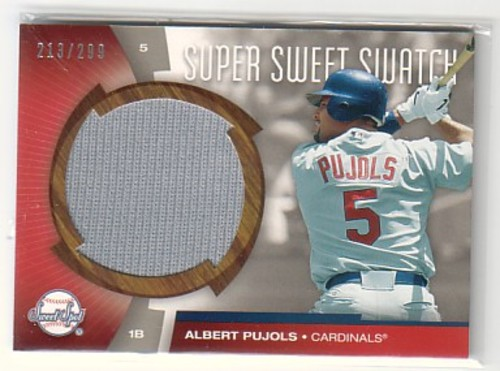 Photo of 2006 Sweet Spot Super Sweet Swatch #AP Albert Pujols Jsy/299