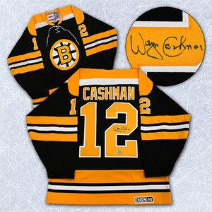 Wayne Cashman Boston Bruins Autographed Retro CCM Stanley Cup Jersey