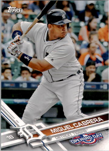 Photo of 2017 Topps Opening Day #148A Miguel Cabrera