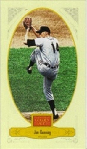 Photo of 2012 Panini Golden Age Mini Broadleaf Brown Ink #82 Jim Bunning