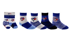 Toronto Blue Jays Toddler 4 Pack Crew Socks by Gertex