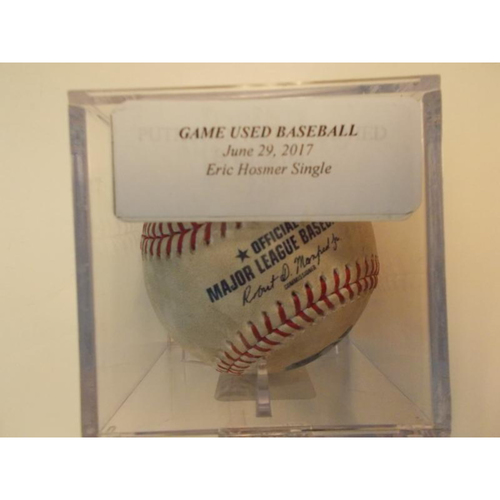Photo of Game-Used Baseball: Eric Hosmer Single