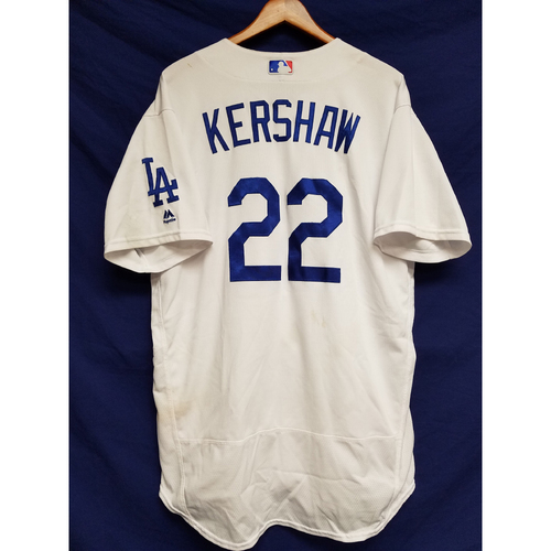 Photo of Kershaw's Challenge: Clayton Kershaw Home Game-Used Jersey