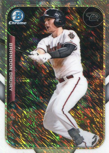 Photo of 2015 Bowman Chrome Farm's Finest Minis #FFMBD Brandon Drury -- D'backs post-season