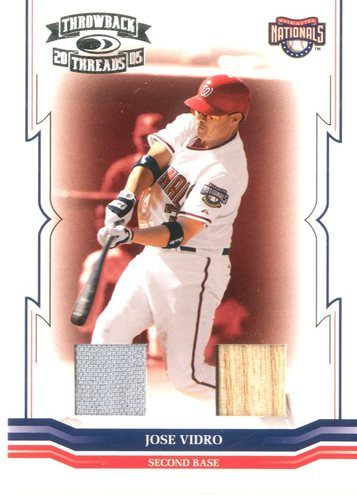 Photo of 2005 Throwback Threads Material Combo #67 Jose Vidro Bat-Jsy/100