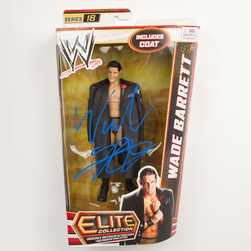 Wade Barrett SIGNED Mattel Elite Series 18 Action Figure