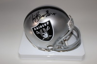 HOF - RAIDERS TIM BROWN SIGNED RAIDERS MINI HELMET