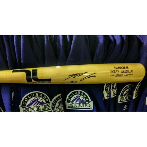 Photo of Colorado Rockies Nolan Arenado Autographed Bat