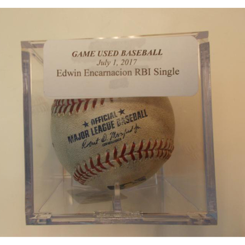 Photo of Game-Used Baseball: Edwin Encarnacion RBI Single