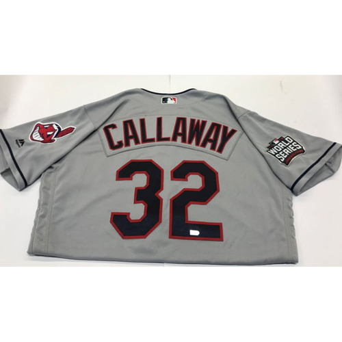 Photo of Mickey Callaway Team-Issued 2016 World Series Jersey