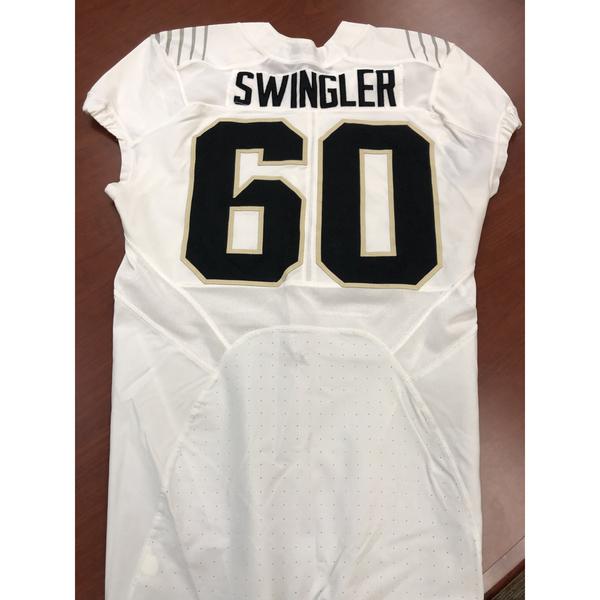 White Eric Swingler #60 Purdue Football Jersey Size 46
