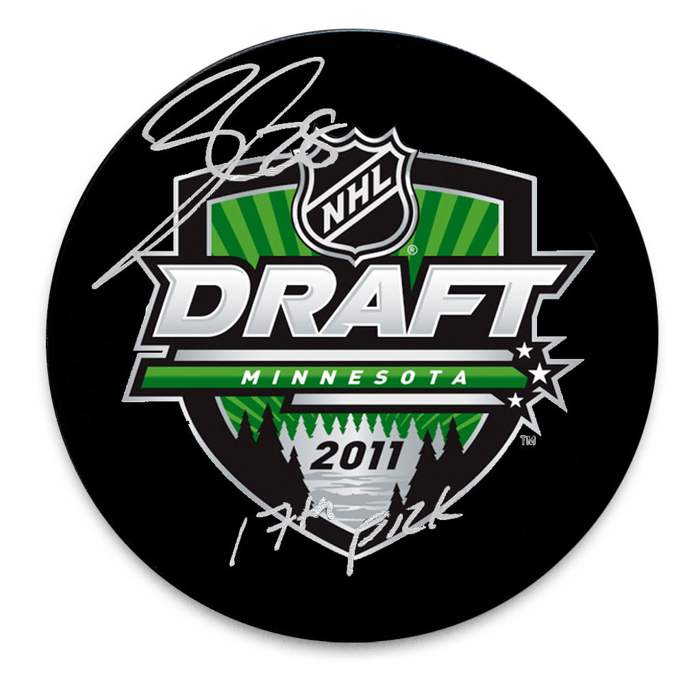 Nathan Beaulieu 2011 NHL Draft Day 17th Pick Autographed Puck Montreal Canadiens