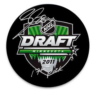Nathan Beaulieu 2011 NHL Draft Day 17th Pick Autographed Puck