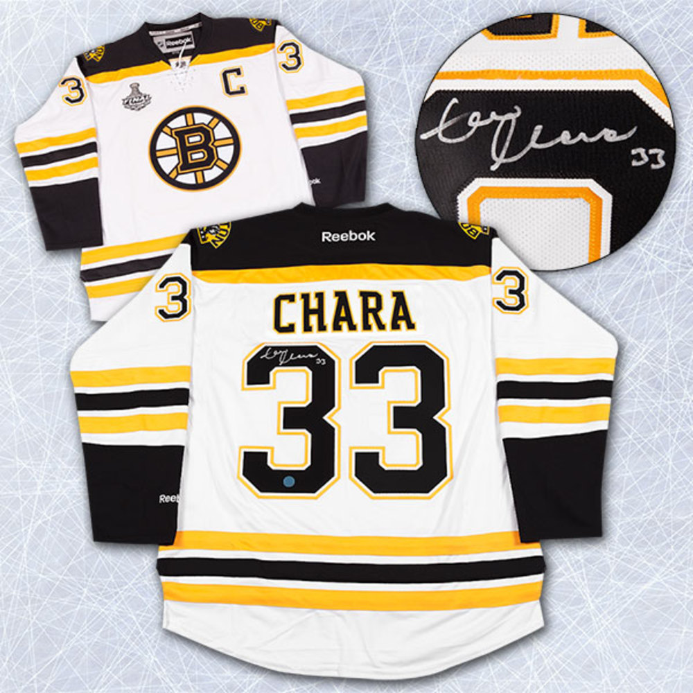 Zdeno Chara Boston Bruins Autographed 2011 Stanley Cup Reebok Premier Jersey