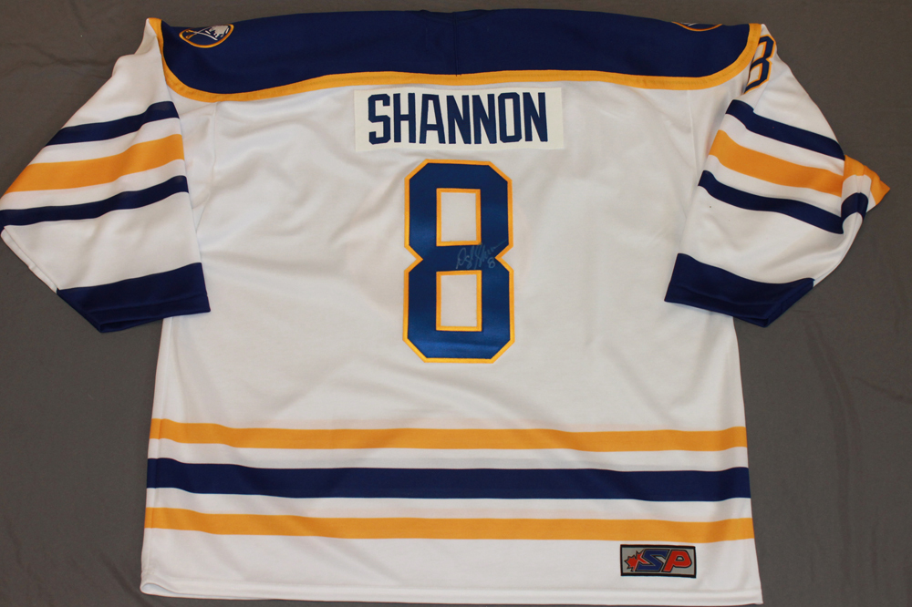Darryl Shannon Autographed Buffalo Sabres Breast Cancer Awareness Jersey
