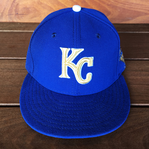 Photo of Hunter Dozier Game-Used Hat (First Career RBI) (9/16/16)
