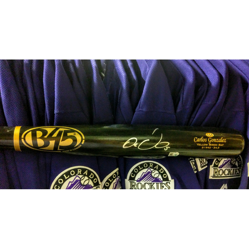Photo of Colorado Rockies Carlos Gonzalez Autographed Bat