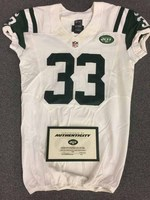 New York Jets - 2014 #33 Chris Ivory Game Worn Jersey