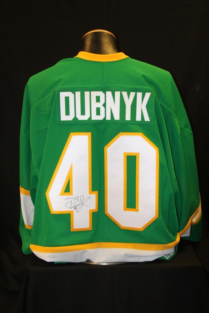 MN Wild #40 Devan Dubnyk Signed, Player Worn Northstars Jersey