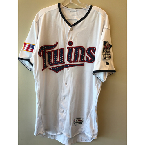 Photo of 2017 Game-Used July 4th Home Jersey - James Rowson  - Size 44