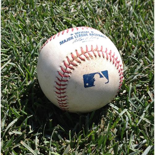 Photo of Victor Robles MLB Debut Game-Used Baseball: Daniel Murphy Single
