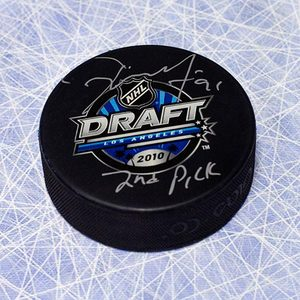 Tyler Seguin 2010 NHL Draft Day Puck Autographed w 2nd Pick Inscription *Dallas Stars*