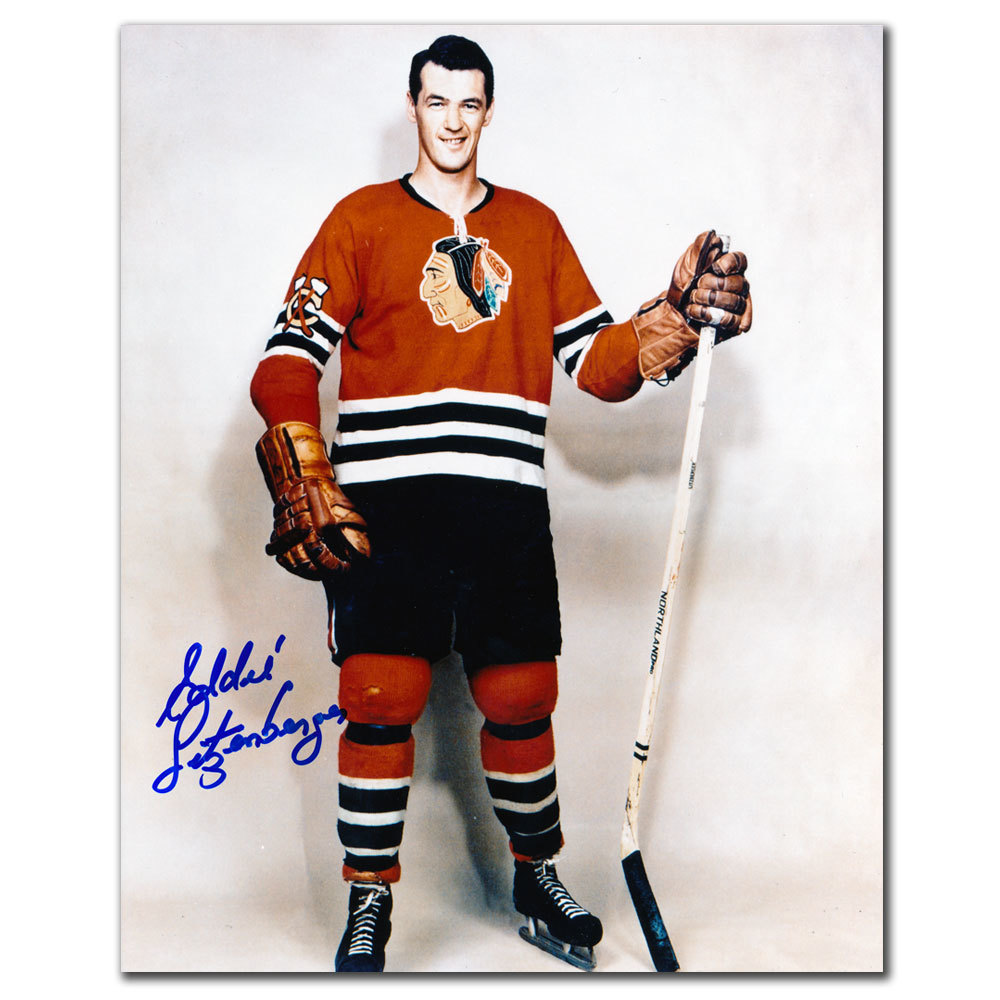 Eddie Litzenberger Chicago Blackhawks Autographed 8x10