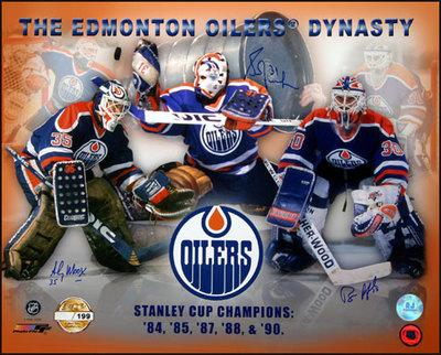 FUHR MOOG RANFORD Triple Signed 16x20 Oilers Print /199