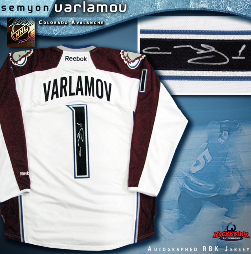 SEMYON VARLAMOV Signed Colorado Avalanche White Reebok Premier Jersey
