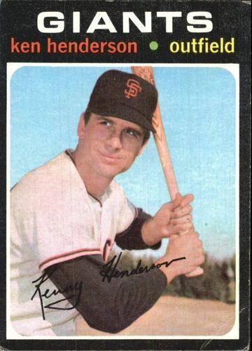 Photo of 1971 Topps #155 Ken Henderson