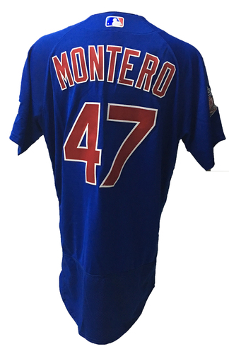 Photo of Miguel Montero Game-Used Jersey -- 2016 World Champion Season -- NLDS Game 3 -- Cubs vs Giants -- 10/10/16