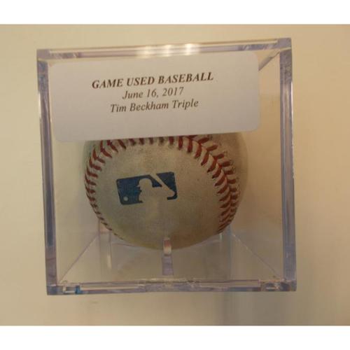Photo of Game-Used Baseball: Tim Beckham Triple