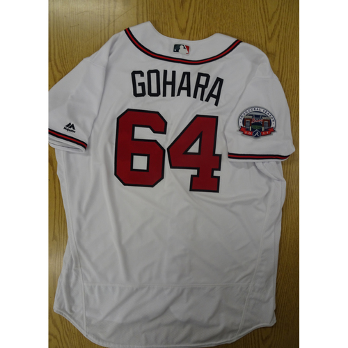 Photo of Luiz Gohara Game-Used Los Bravos Jersey - Worn 9/17/17 at SunTrust Park