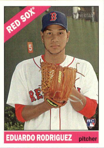 Photo of 2015 Topps Heritage #527 Eduardo Rodriguez Rookie Card -- Red Sox post-season